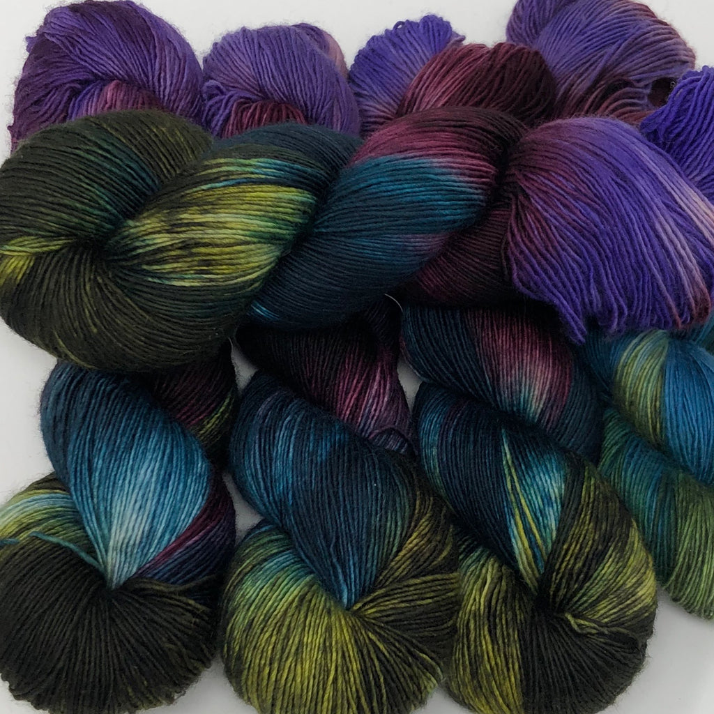 Inkling sock yarn color Kodiak