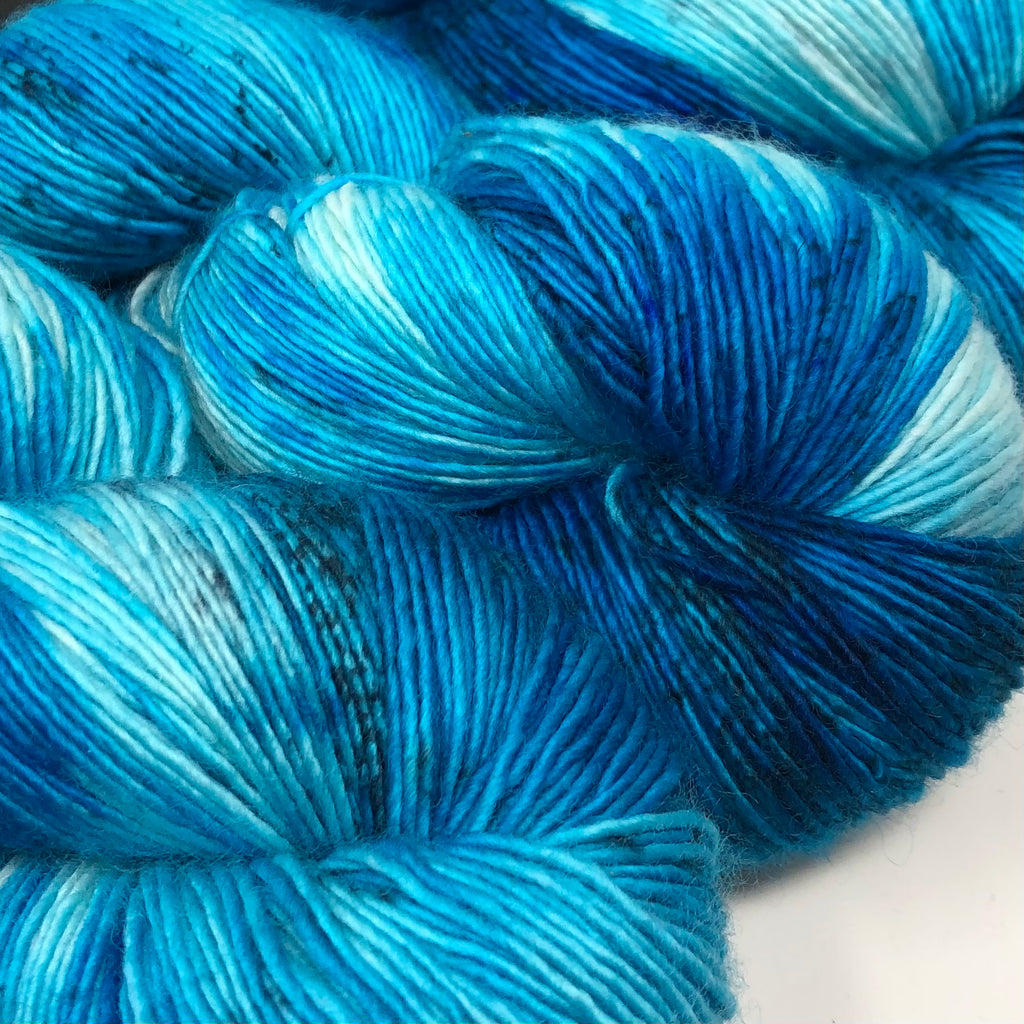 Inkling sock yarn color Aquamarine