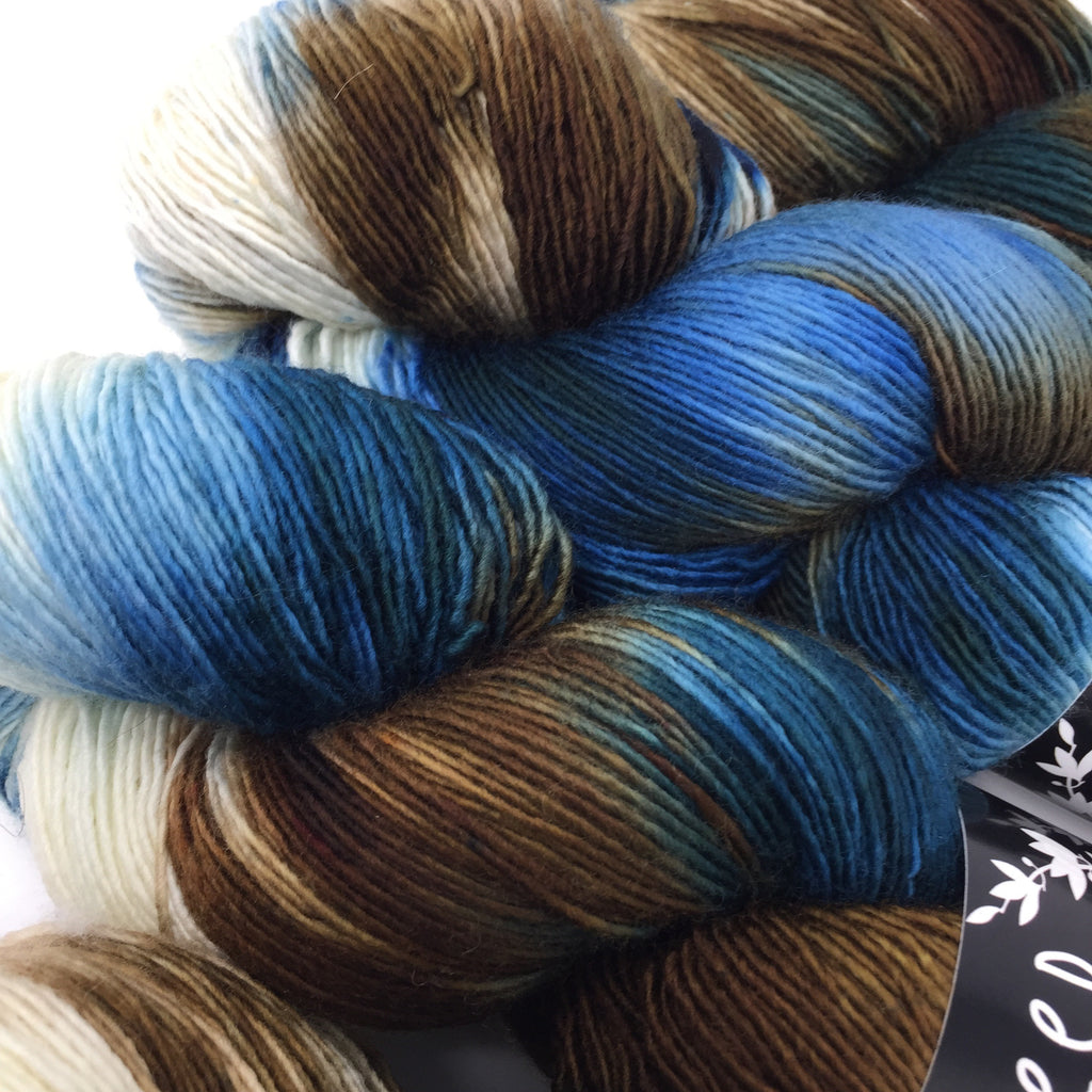 Inkling sock yarn color Dark Water