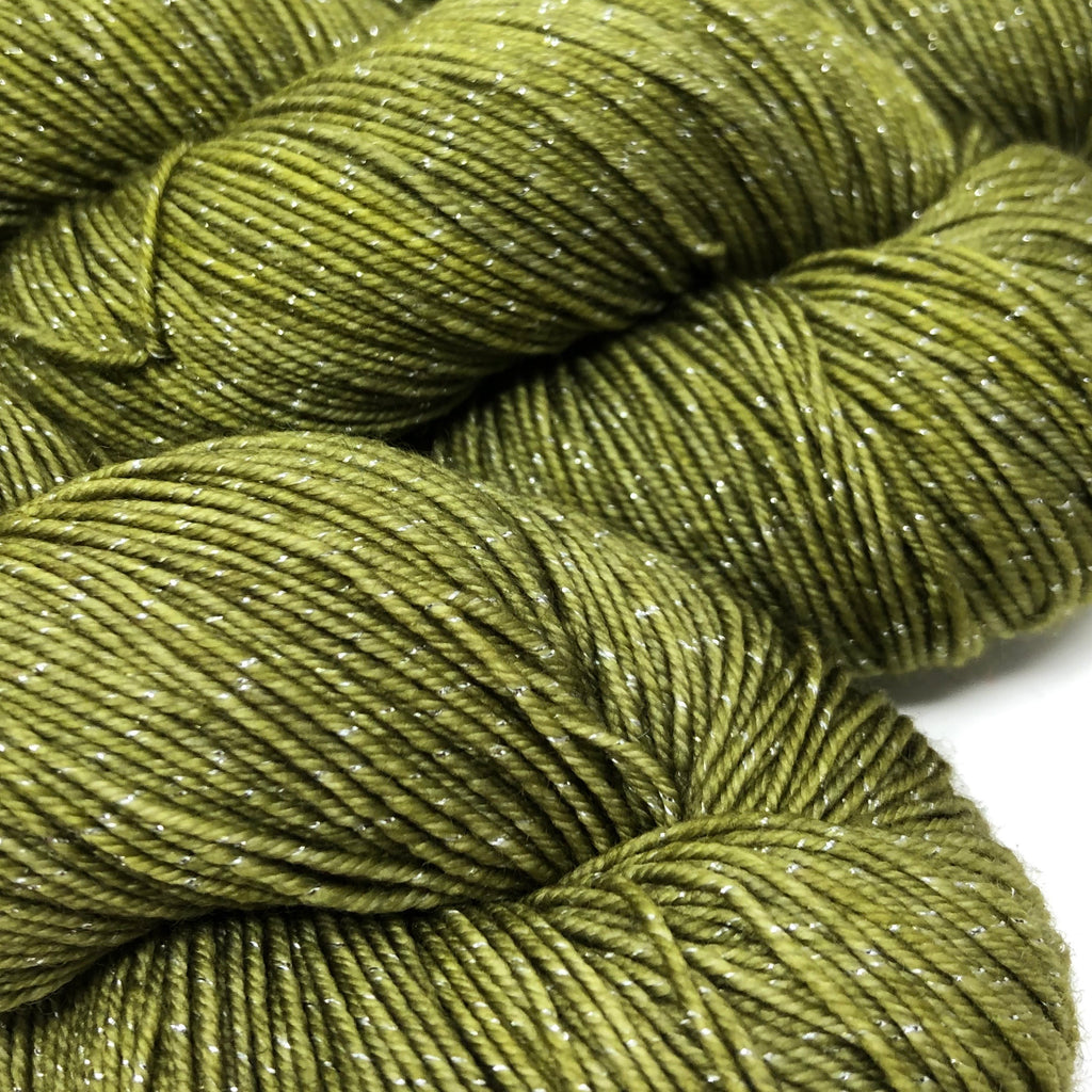 Figment sparkly sock yarn Thyme
