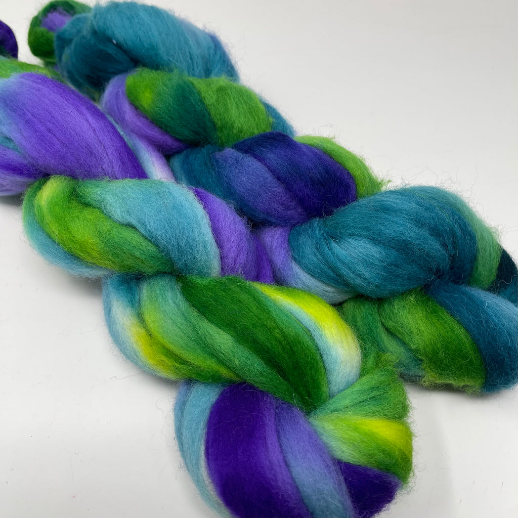 Cheviot combed top fractal spinning set Sea Dragon