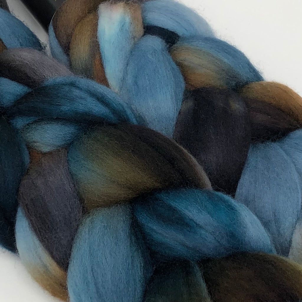 Hand-dyed Merino Combed Top Roving Driftwood