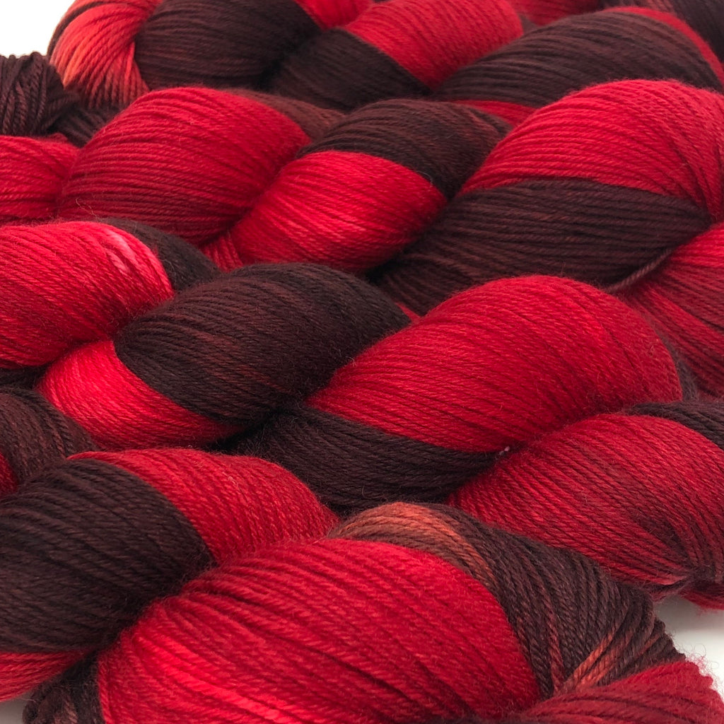 Good Juju Sock yarn Garnet