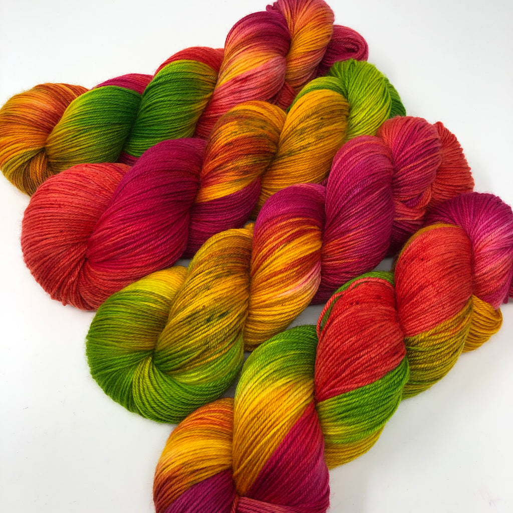 Good Juju Sock yarn Tutti-f*ing-frutti