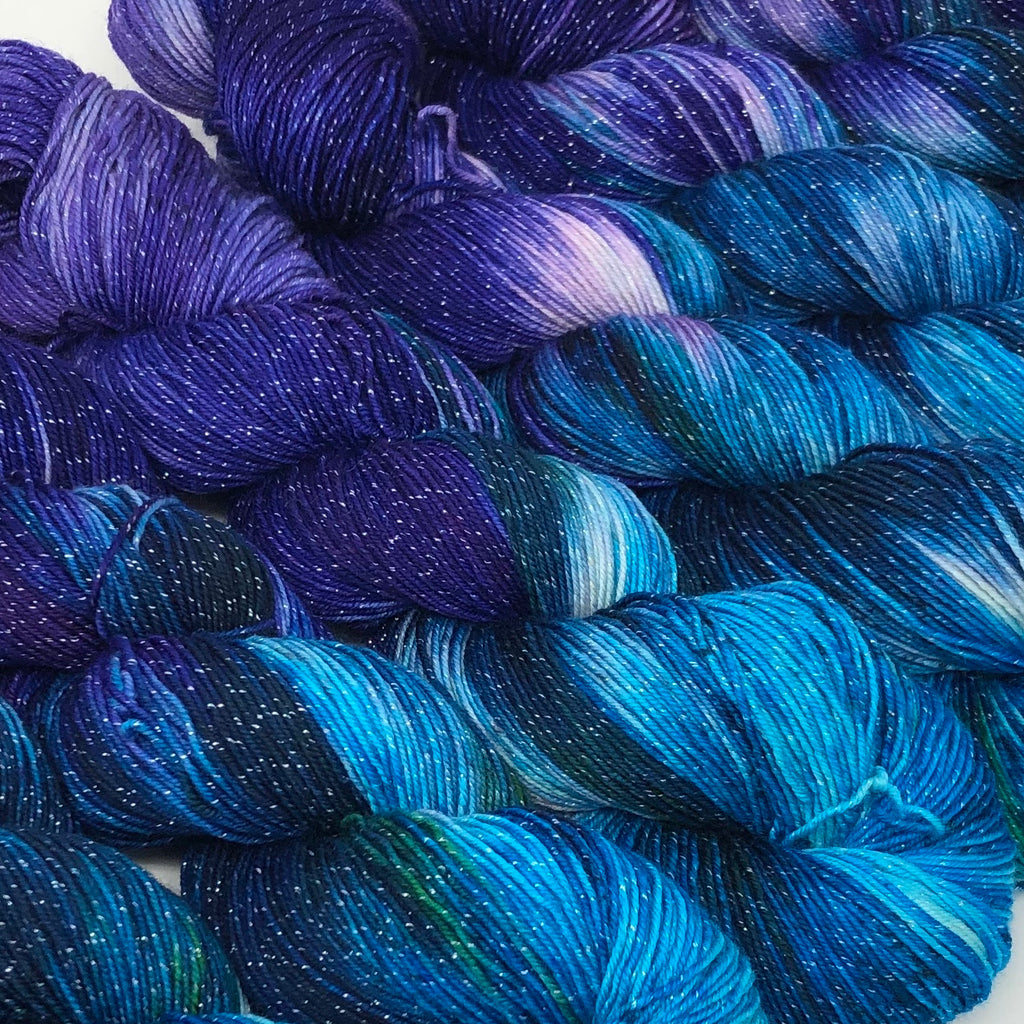 Figment sparkly sock yarn Galaxy
