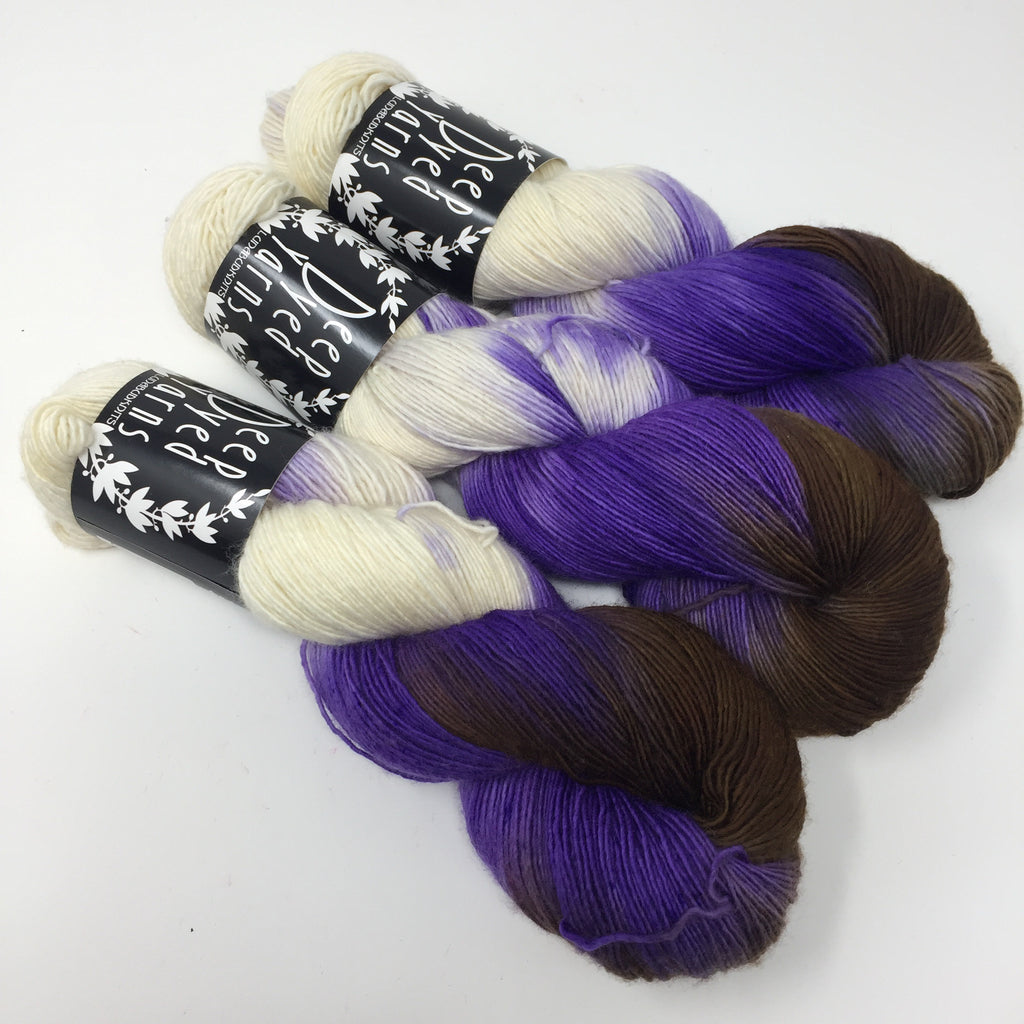 Inkling sock yarn color Purple No Name