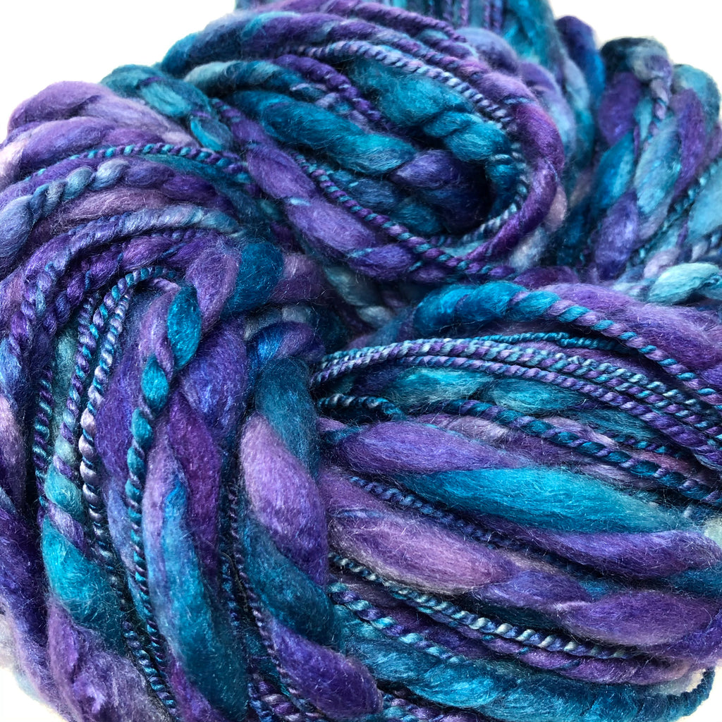 Handspun Bulky Thick n Thin Yarn 152 yards 8.1 ounces