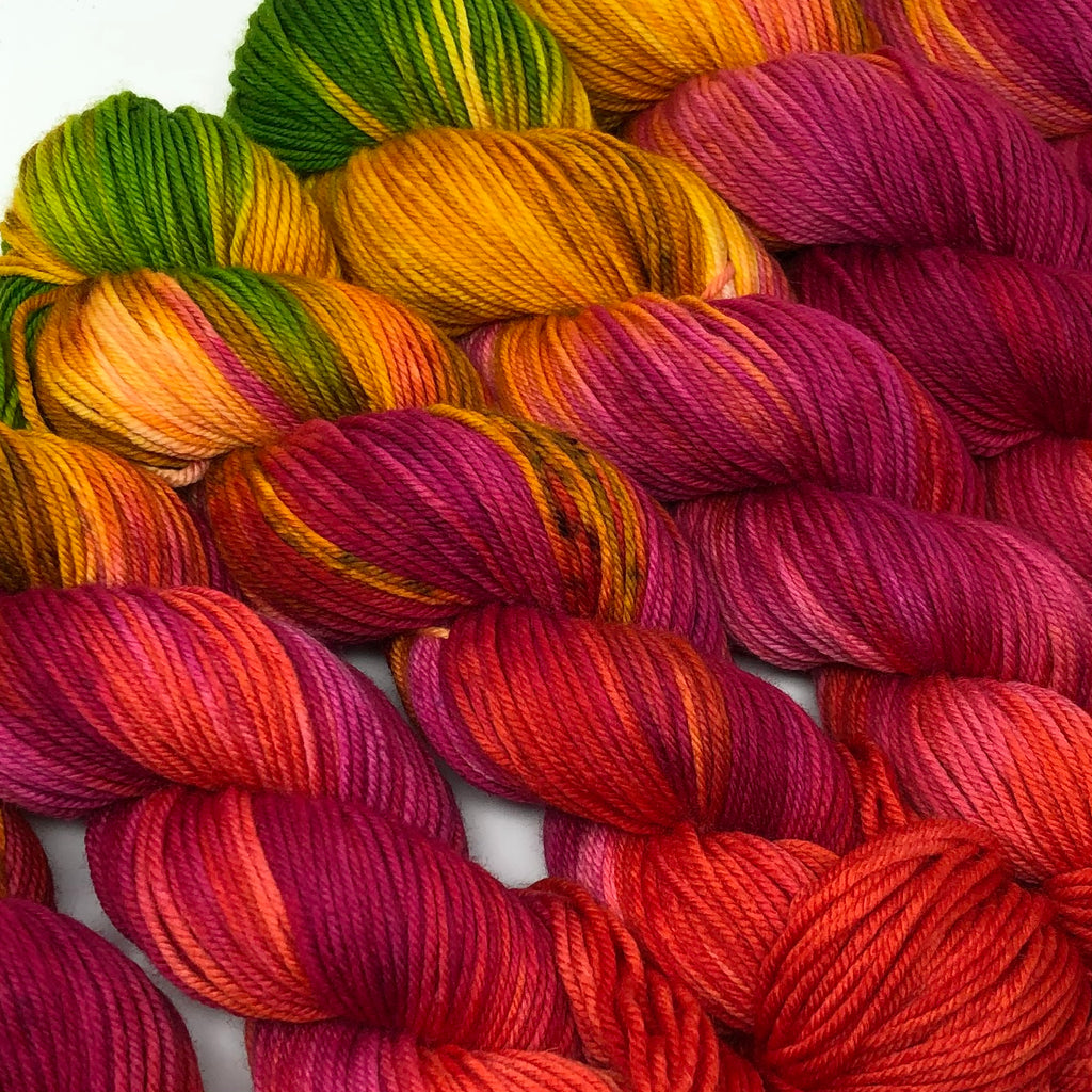 Still heavy DK to light worsted Yarn Tutti-f*ing-frutti