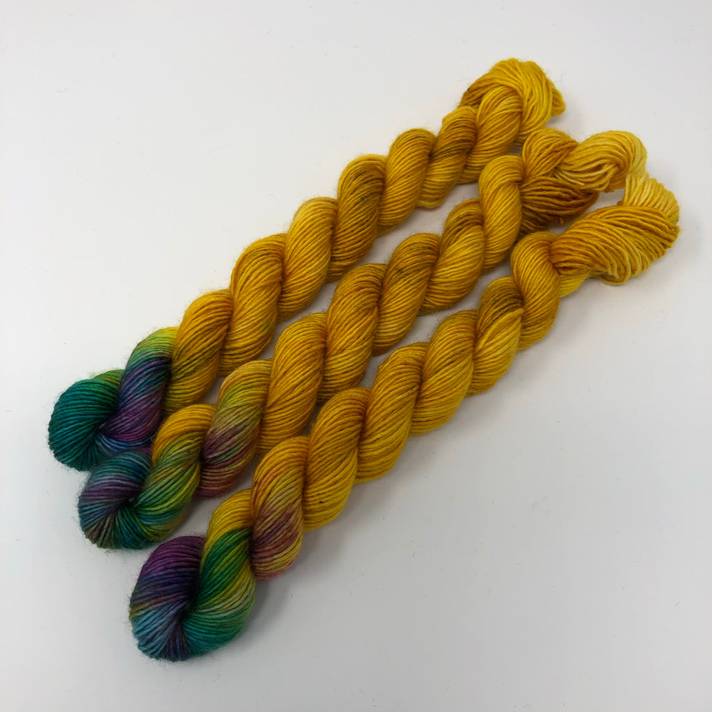 70 yard sock yarn mini skein Unicorn Horn
