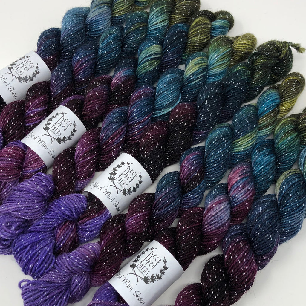 70 yard sock yarn mini skein Kodiak
