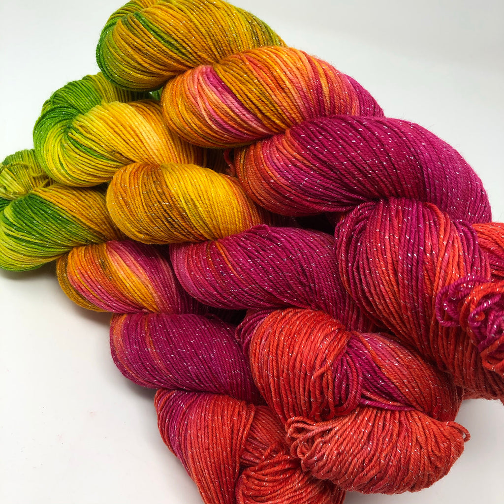 Figment sparkly sock yarn Holiday Hooker