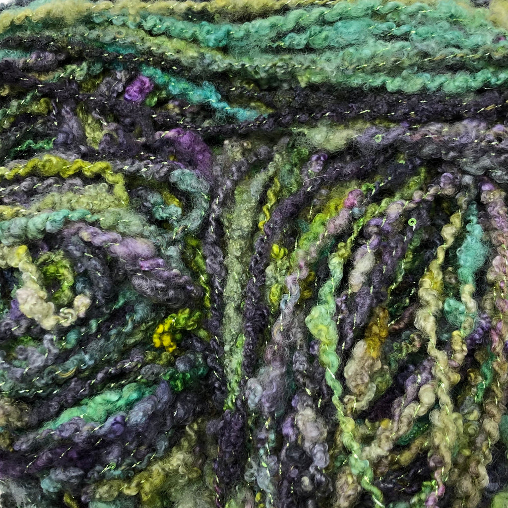 Handspun Squiggles yarn 162 yards 11.25 ounces
