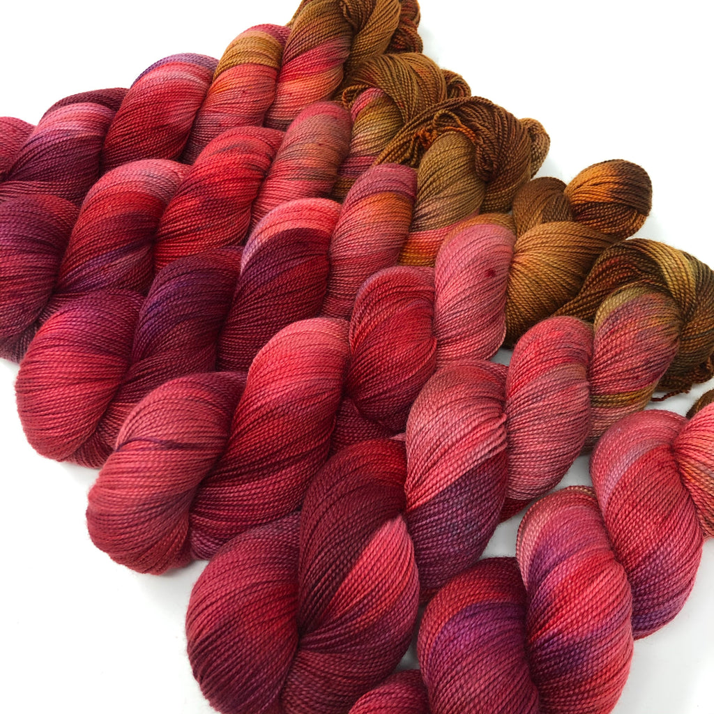 Mantua Merino Silk Sock Yarn Candy Apple
