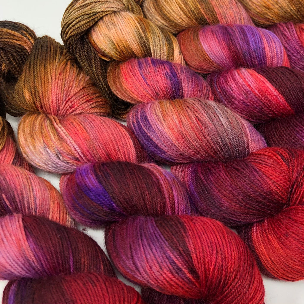 Good Juju Sock yarn Candy Apple