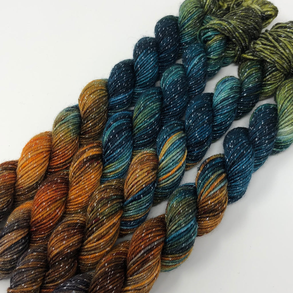 70 yard sock yarn mini skein Partridge