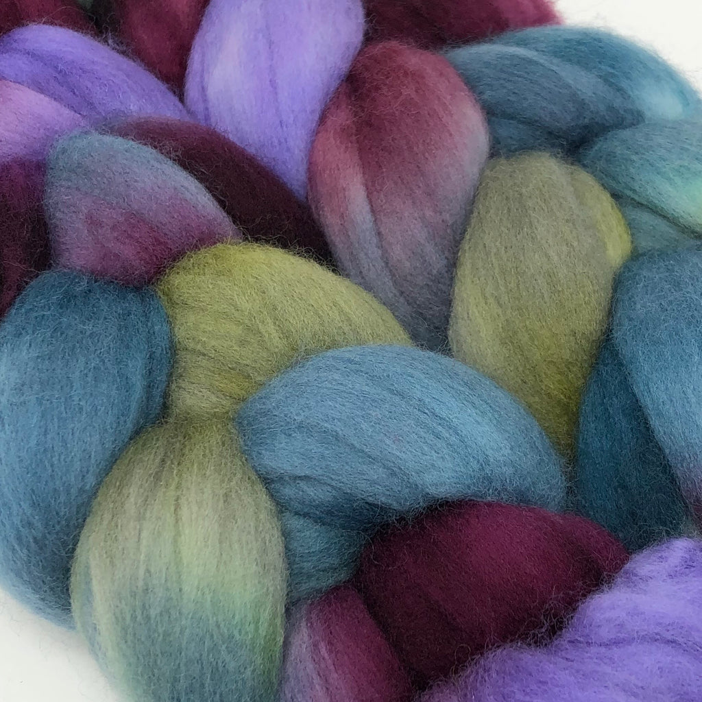 Hand-dyed Merino Combed Top Roving Kodiak
