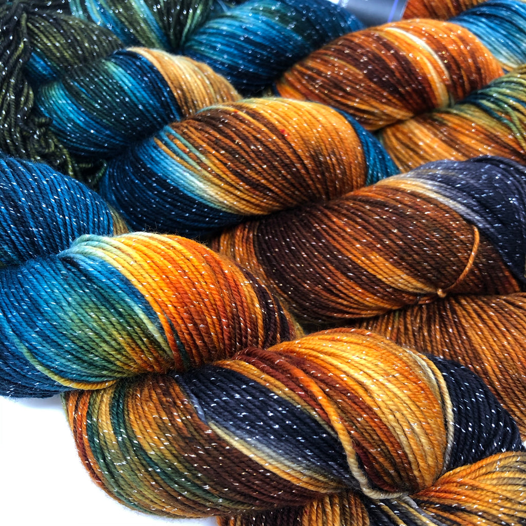 Figment sparkly sock yarn Partridge