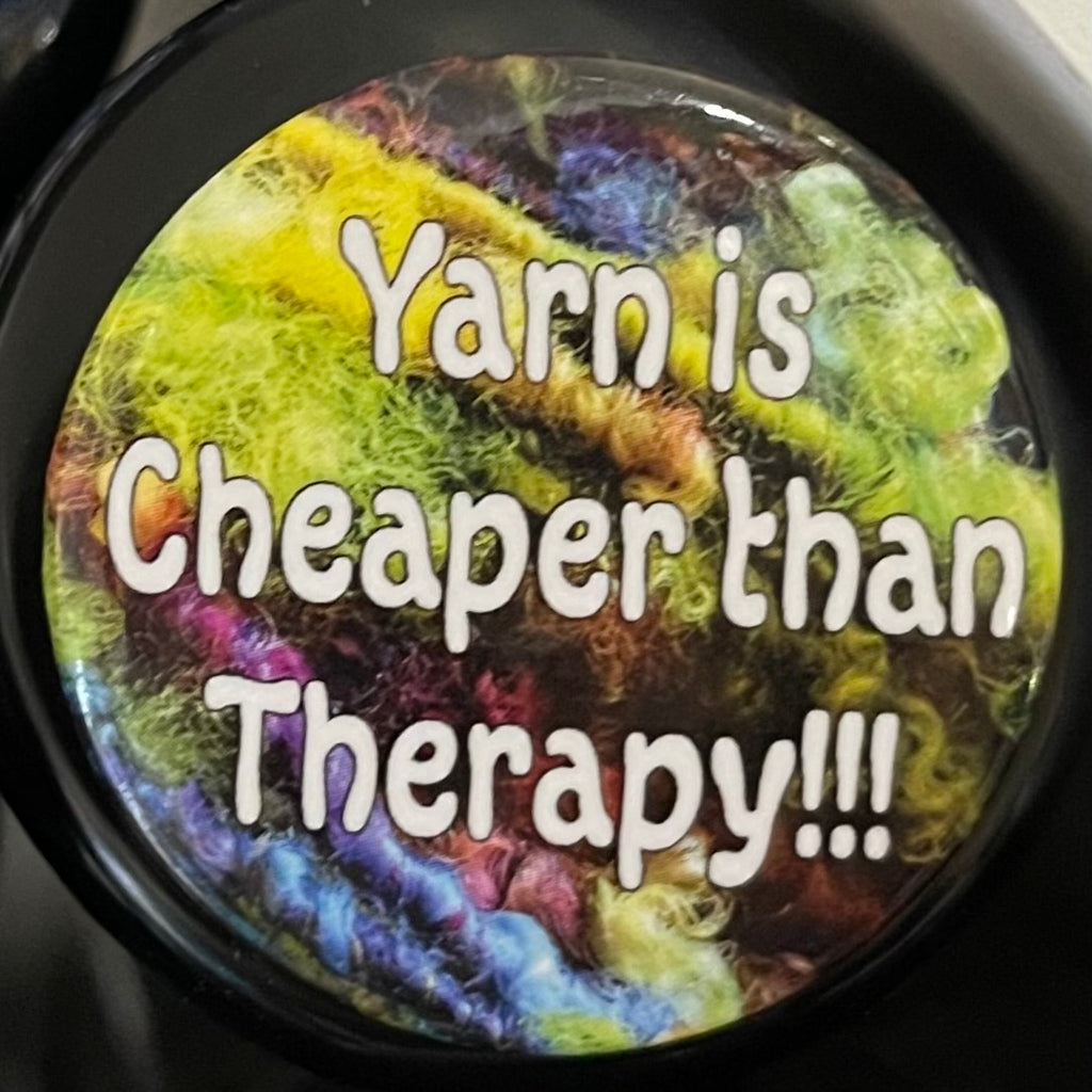 Button Pin Cheaper Than Therapy