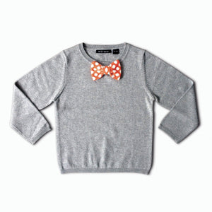Orange Bowtie Sweater