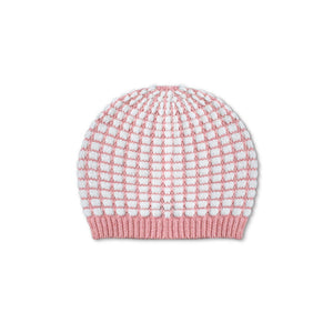 Pink Check Baby Beanie