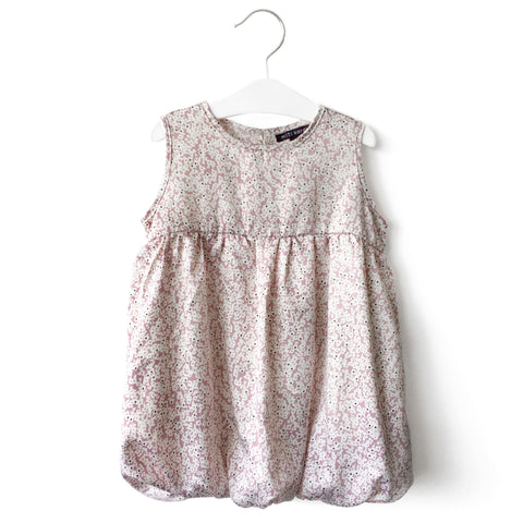 Purple little Floral Bubble Dress