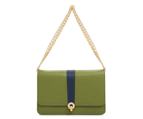 Peggy Green Leather|Designer Handbags
