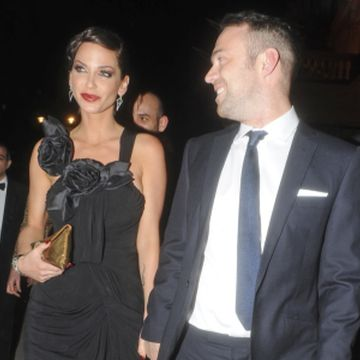 Sarah Harding at her engagement party