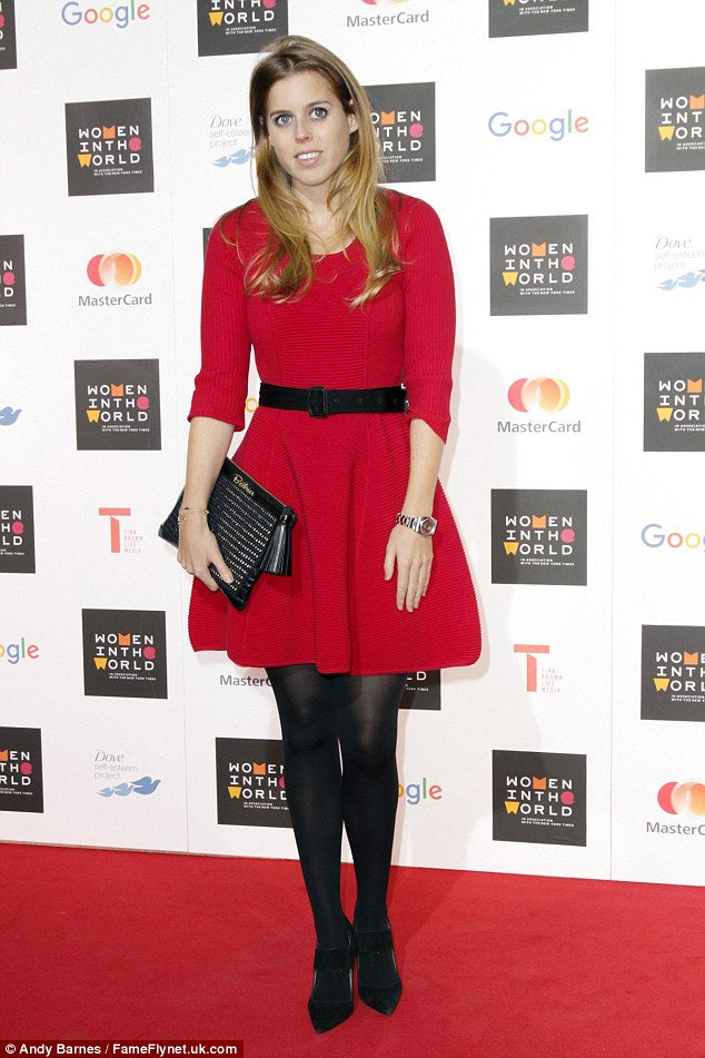 Princess Beatrice at the Women in the World summit in London