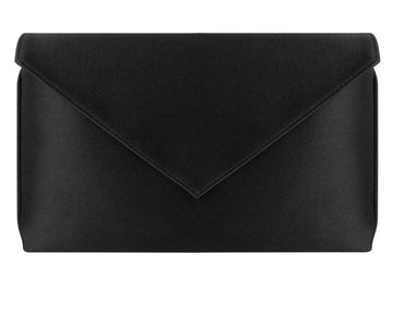 Abby Black Silk Clutch
