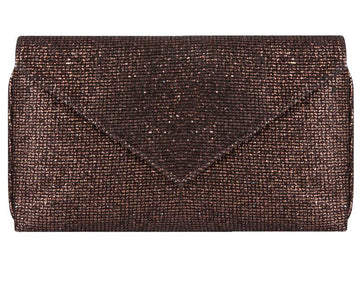 Abby Bronze Glitter Clutch
