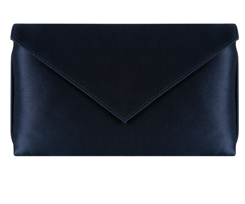 Abby Navy Silk Clutch
