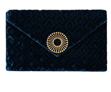 Abby Peacock Velvet Clutch
