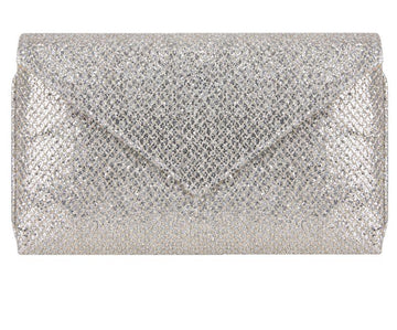 Abby Silver and Gold Glitter Clutch