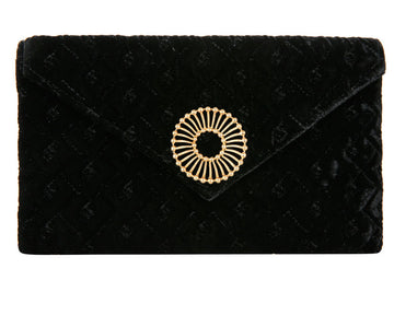 Abby Black Velvet Clutch
