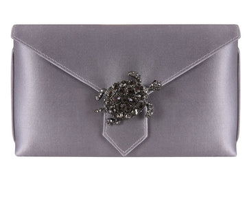 Charlie Bespoke Steel Silk Clutch