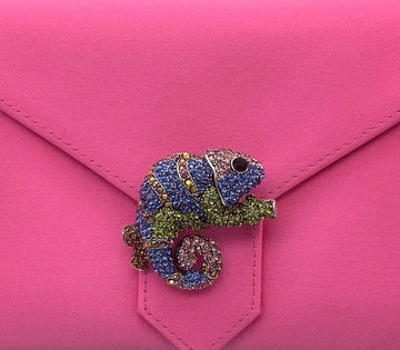Multi-Crystal Chameleon Brooch