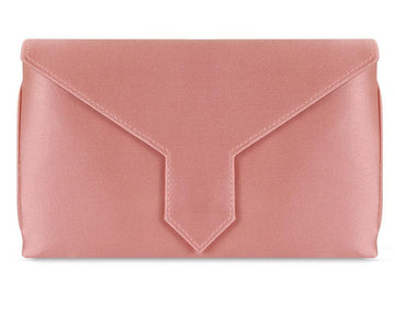 Charlie Bespoke Dusty Pink Silk Clutch