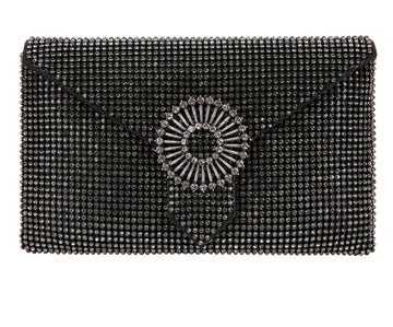 Charlie Black Crystal Clutch