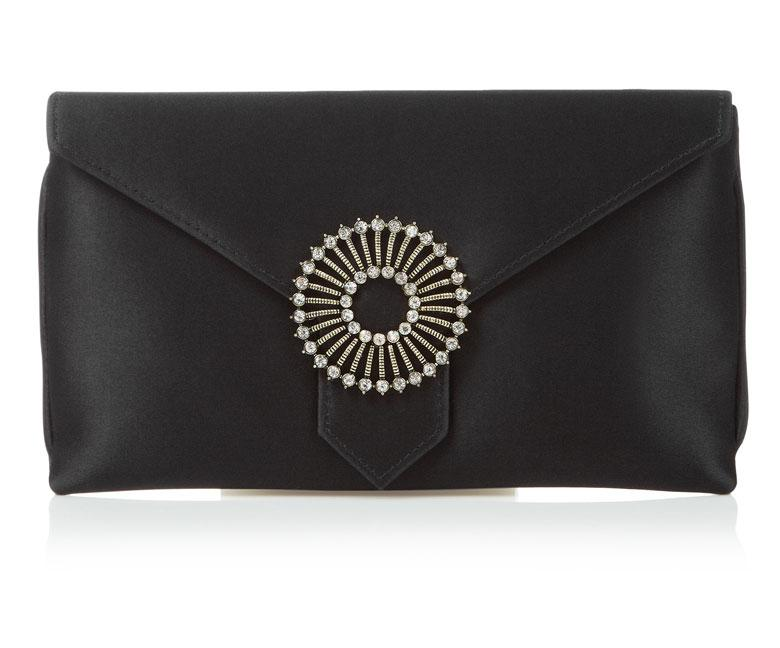 Charlie Black Silk Clutch