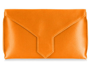 Charlie Bespoke Orange Silk Clutch