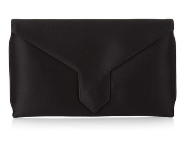 Charlie Bespoke Black Silk Clutch