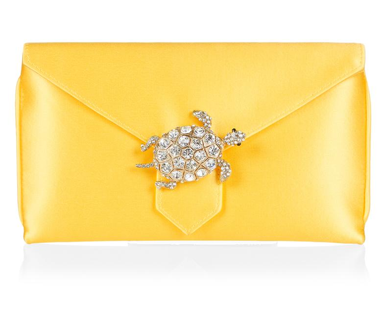 Charlie Bespoke Yellow Silk Clutch