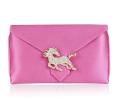 Charlie Candy Pink Silk Clutch