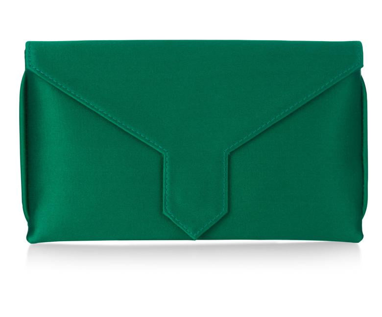 Charlie Bespoke Emerald Green Silk Clutch