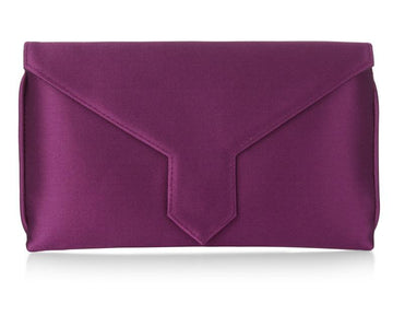Charlie Bespoke Purple Silk Clutch