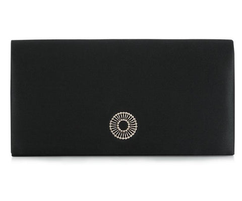 Clover Black Clutch
