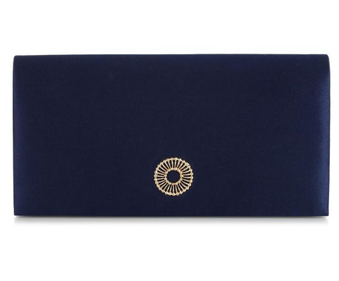 Clover Navy Blue Clutch