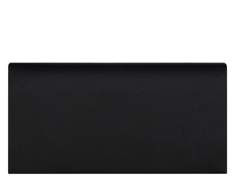 Daisy Black Silk Clutch