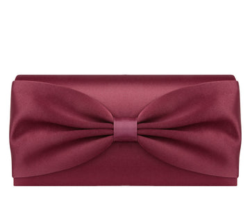 Daisy Burgundy Silk Clutch