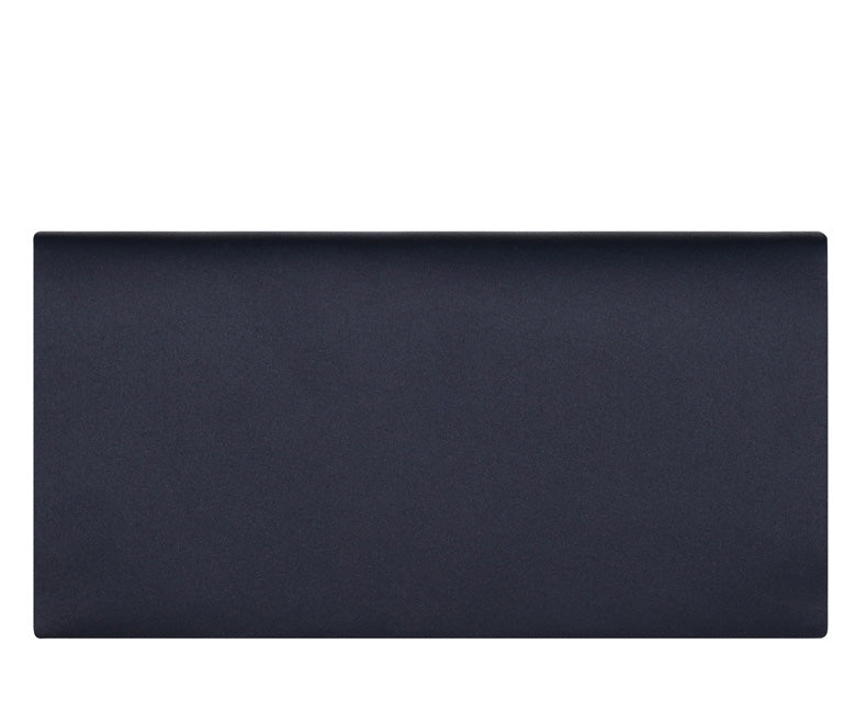 Daisy Navy Blue Silk Clutch